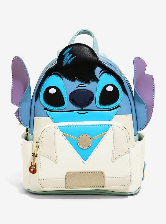 Image of Loungefly Disney Elvis Stitch Cosplay Womens Double Strap Shoulder Bag Purse