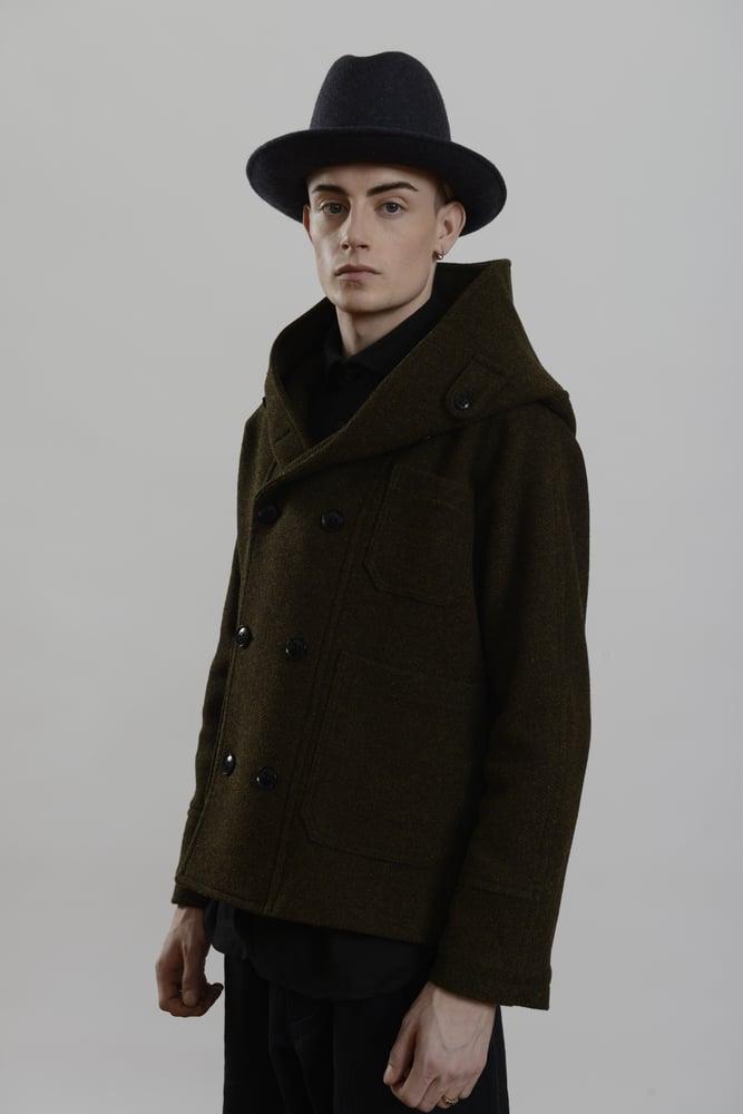Image of Fisherman Short Coat Heather wool £390.00