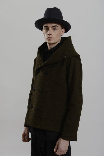 Image of Fisherman Short Coat Heather wool