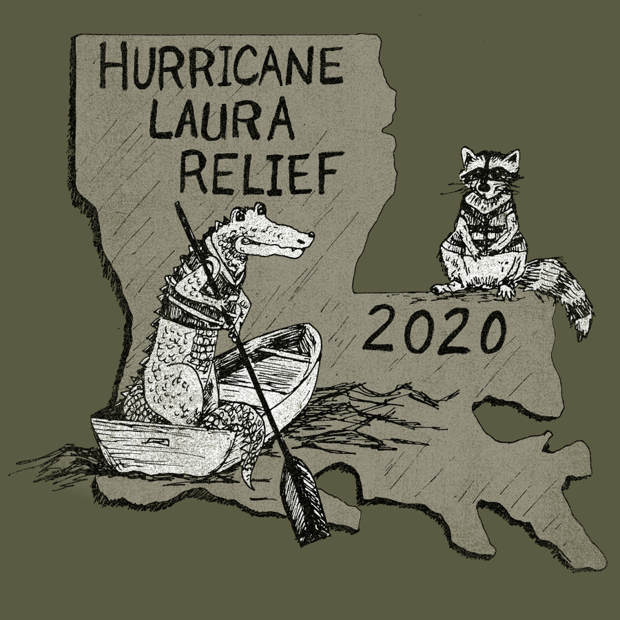 Image of Adult Hurricane Laura Relief Tee- Pre Order