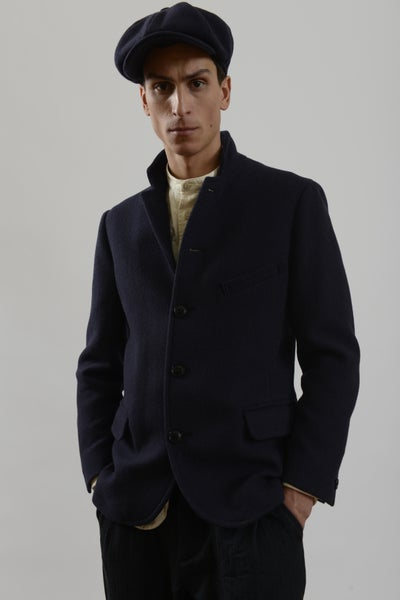 Image of Top Boy Jacket Navy wool