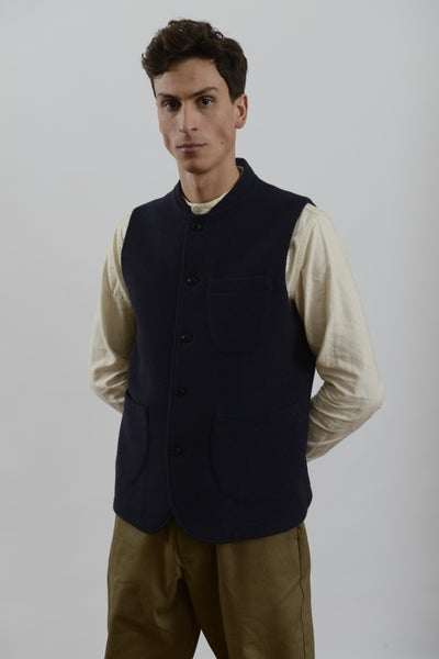 Image of Classic Gilet Navy wool £195.00