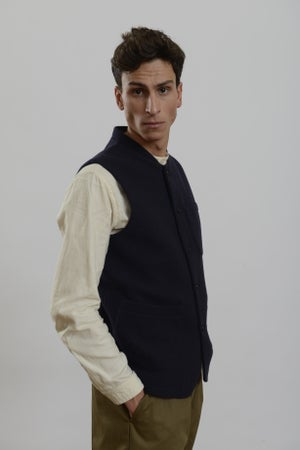 Image of Classic Gilet Navy wool
