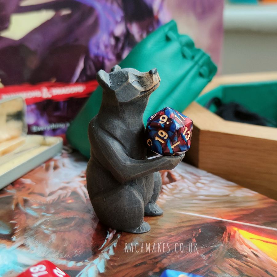 Image of Black bear Dice Guardian.