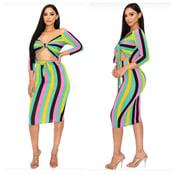 Image of Striped dress