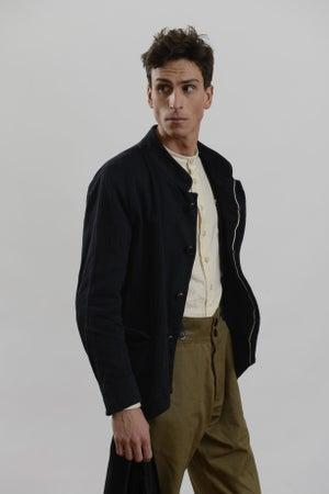 Image of Chinwest Jacket in Cotton Herringbone