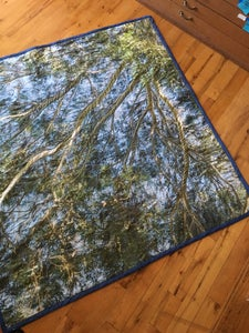 Image of Turn to the Sky (Custom Photographic Site Specific Picnic Blanket Quilt)