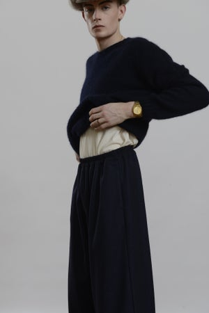 Image of Porter Trouser in Navy wool