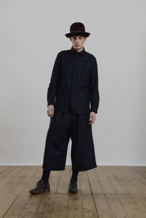 Image of Porter Trouser in Navy wool £190.00