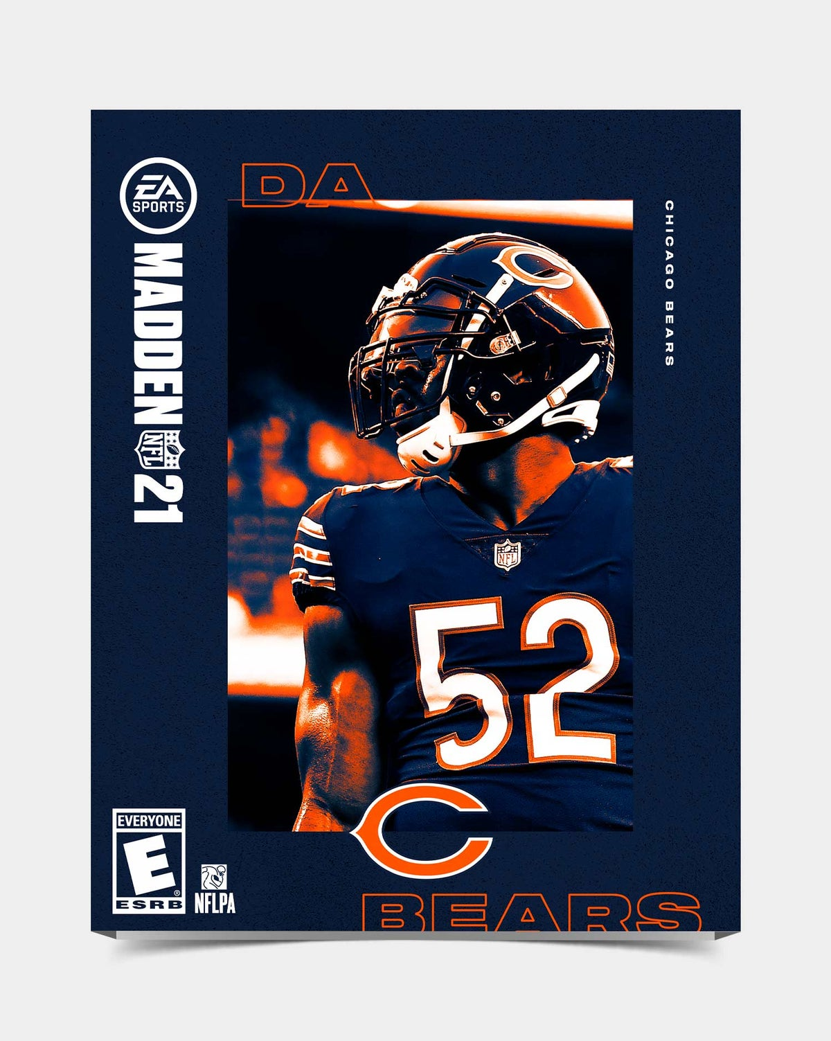 Image of Bears - Mack52 Madden 21 Sleeve *Preorder*