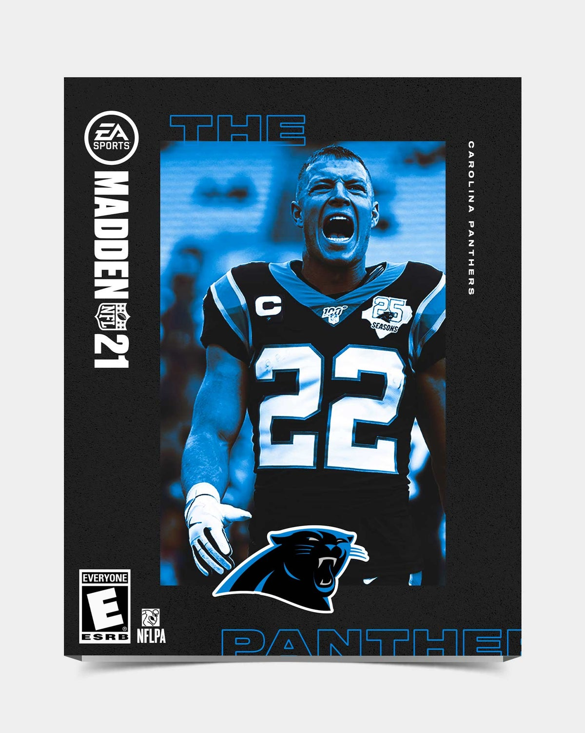 Image of Panthers - McCaffrey22 Madden 21 Sleeve