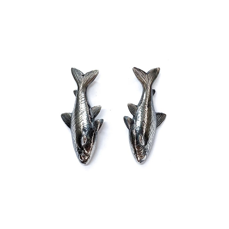 Image of Tetra earrings in sterling silver or 14k gold