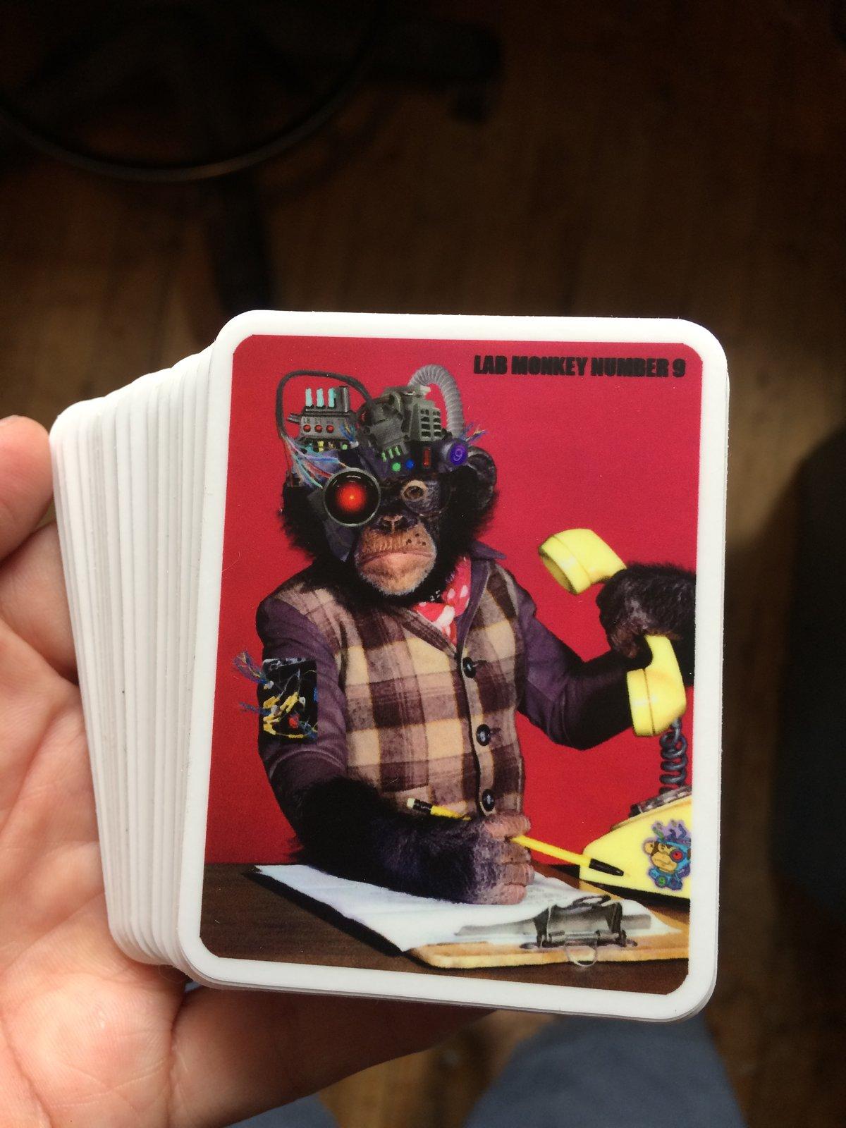 Image of Lab Monkey on the phone sticker