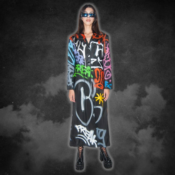 Image of Graffiti Matrix trench coat