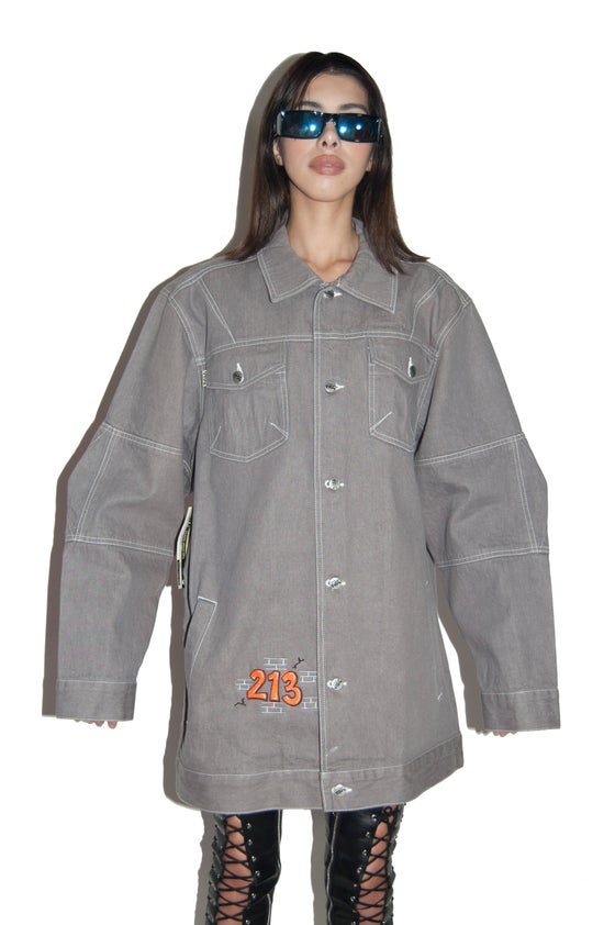 Image of Freak City X Solo semore 213 grey denim jacket