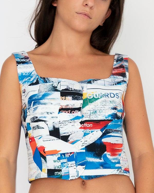 Image of Greta Top in White Multi