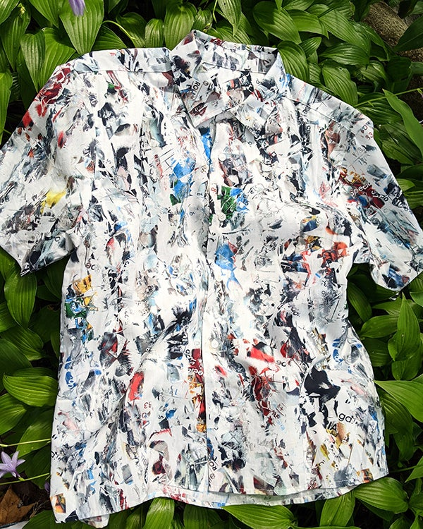Image of Vincenzo Shirt in White Multi