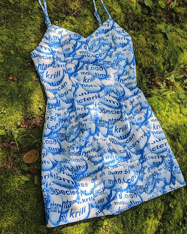 Image of Anya Romper in Blue Multi