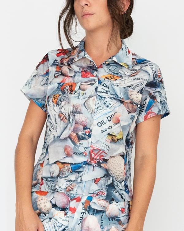 Image of Toni Shirt in White Multi