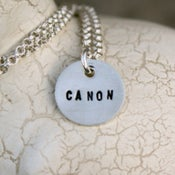 Image of Sterling Silver necklace -- One Teeny Tag
