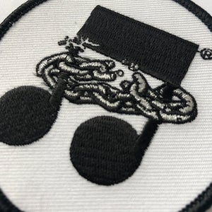 Chain Note Embroidered Patch