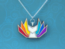 Image 5 of Rainbow Pride Kitsune Necklace