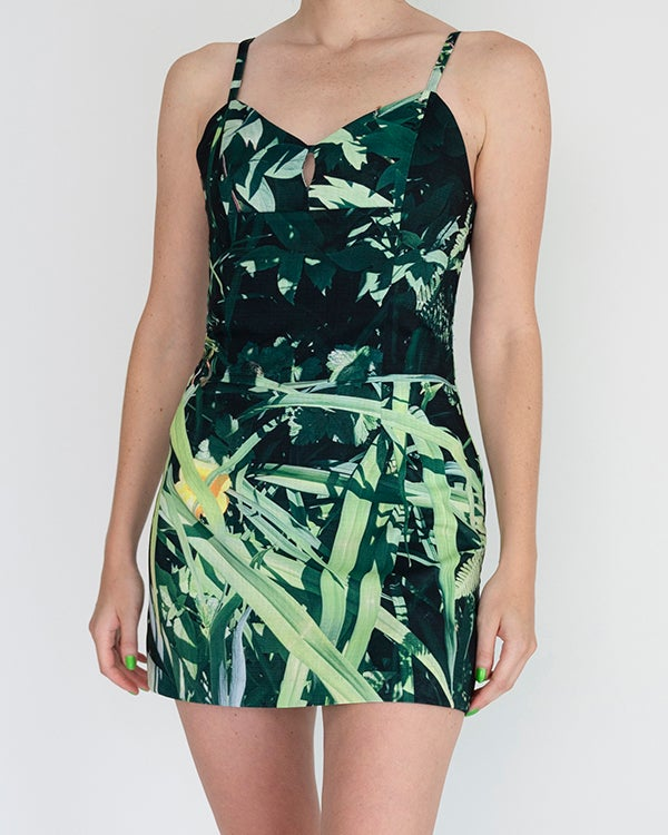 Image of Anya Romper in Green Multi