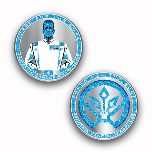 Image of *** PRE-ORDER*** Force For The Cures: Prostate Cancer Awareness Challenge Coin