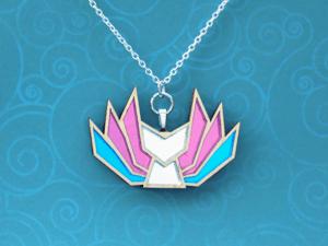 Trans Pride Kitsune Necklace
