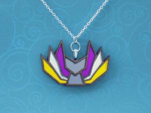 Nonbinary Pride Kitsune Necklace