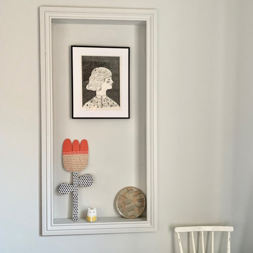 Image of Giant Flower - Hand Screen Printed Wooden Wall Plaque