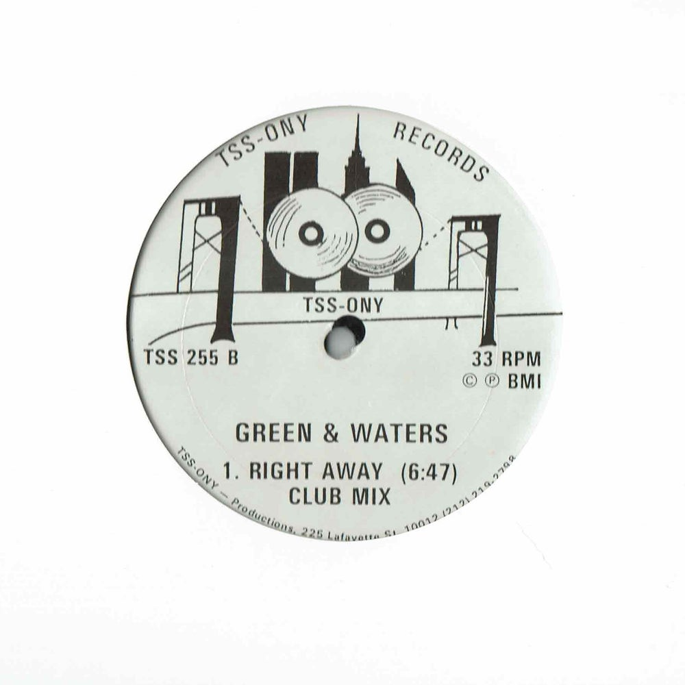 Image of  Green & Waters - Right Away 12""