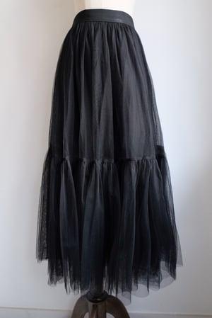 Image of  SAMPLE SALE - Unreleased Black  Layered Tulle Skirt 032