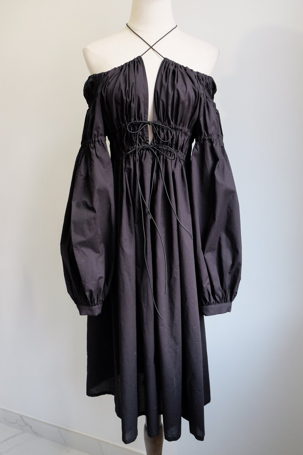 Image of SAMPLE SALE - Unreleased Black Midi Dress 022