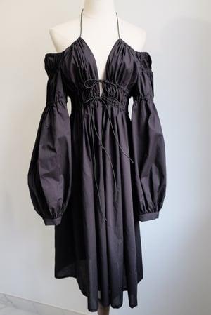 Image of SAMPLE SALE - Unreleased Black Midi Dress 022