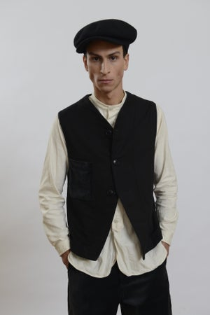 Image of  Savoy Brown Cap in BLACK wool