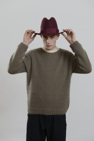 Image of Brixton Hat in Plum wool