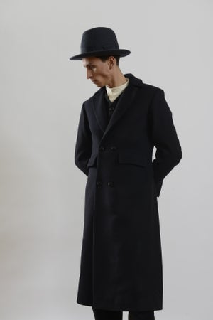 Image of Brixton Hat in Charcoal wool £150.00
