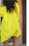 Asymmetrical Yellow  Two Piece Short Set