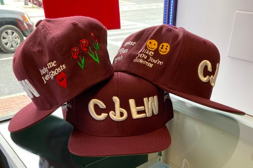 Image of Burgundy Upside Down Flea Market SnapBack