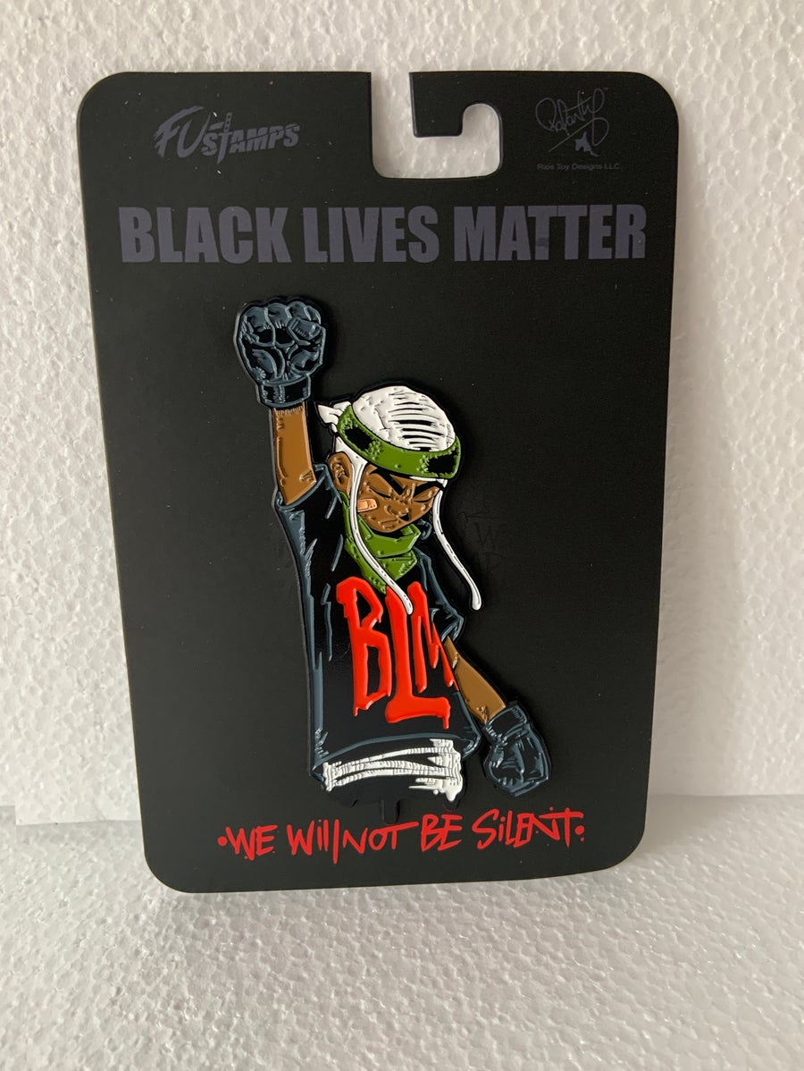 Image of FU-Stamps SkrewFace BLM  Limited Edition pin