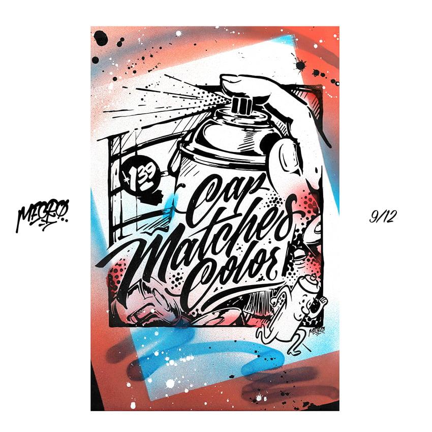 Image of [6-10] MECRO custom embellished prints