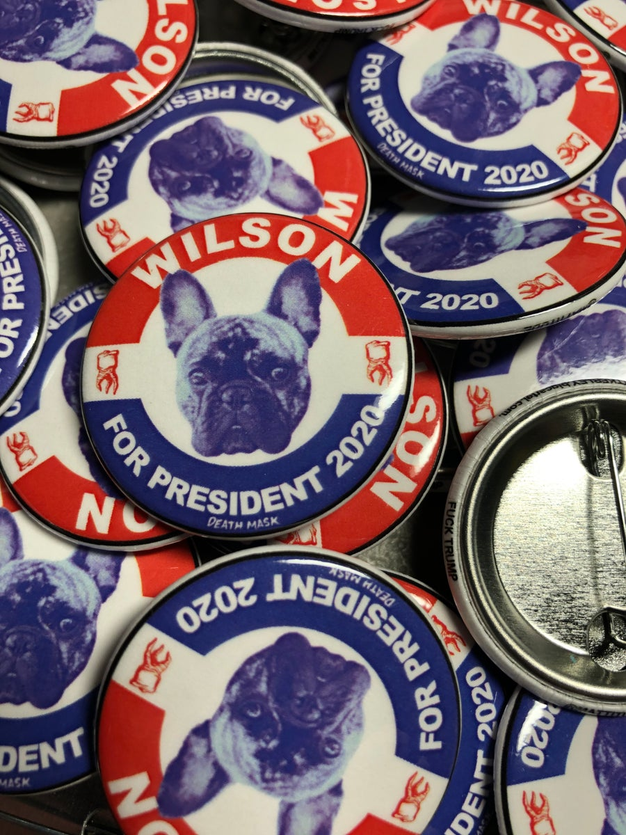 Image of Wilson for President 2020 button