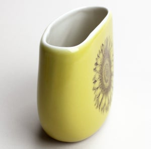 Image of pebble vase, mustard, sunflower