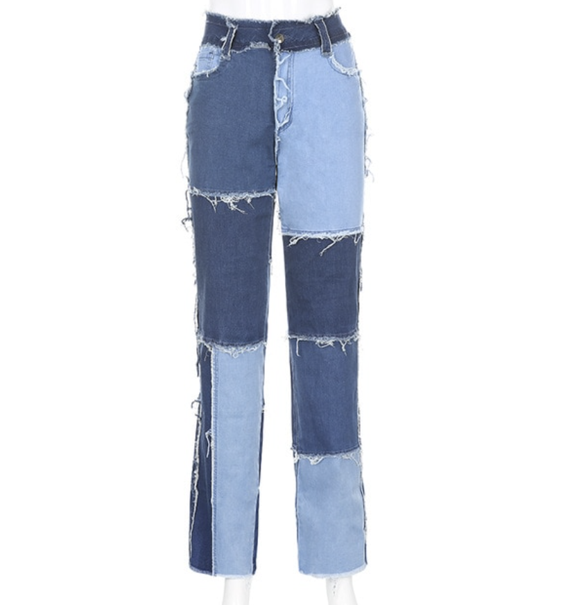 Image of Patchwork Jeans