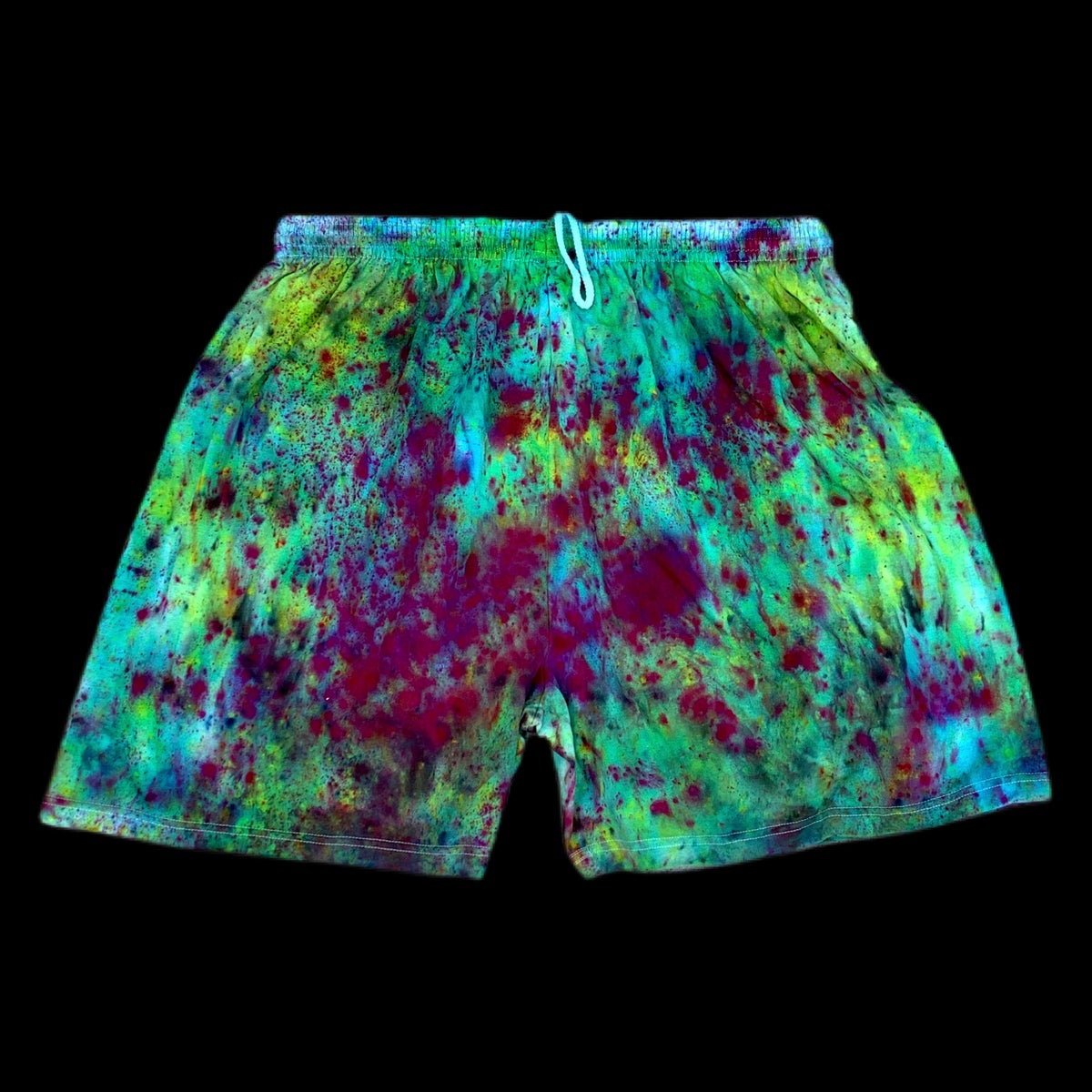 Custom Hand Dyed Champion Shorts! Drop #4! - Purple/Green