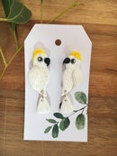 Image 2 of Sulphur Crested Cockatoo Earrings