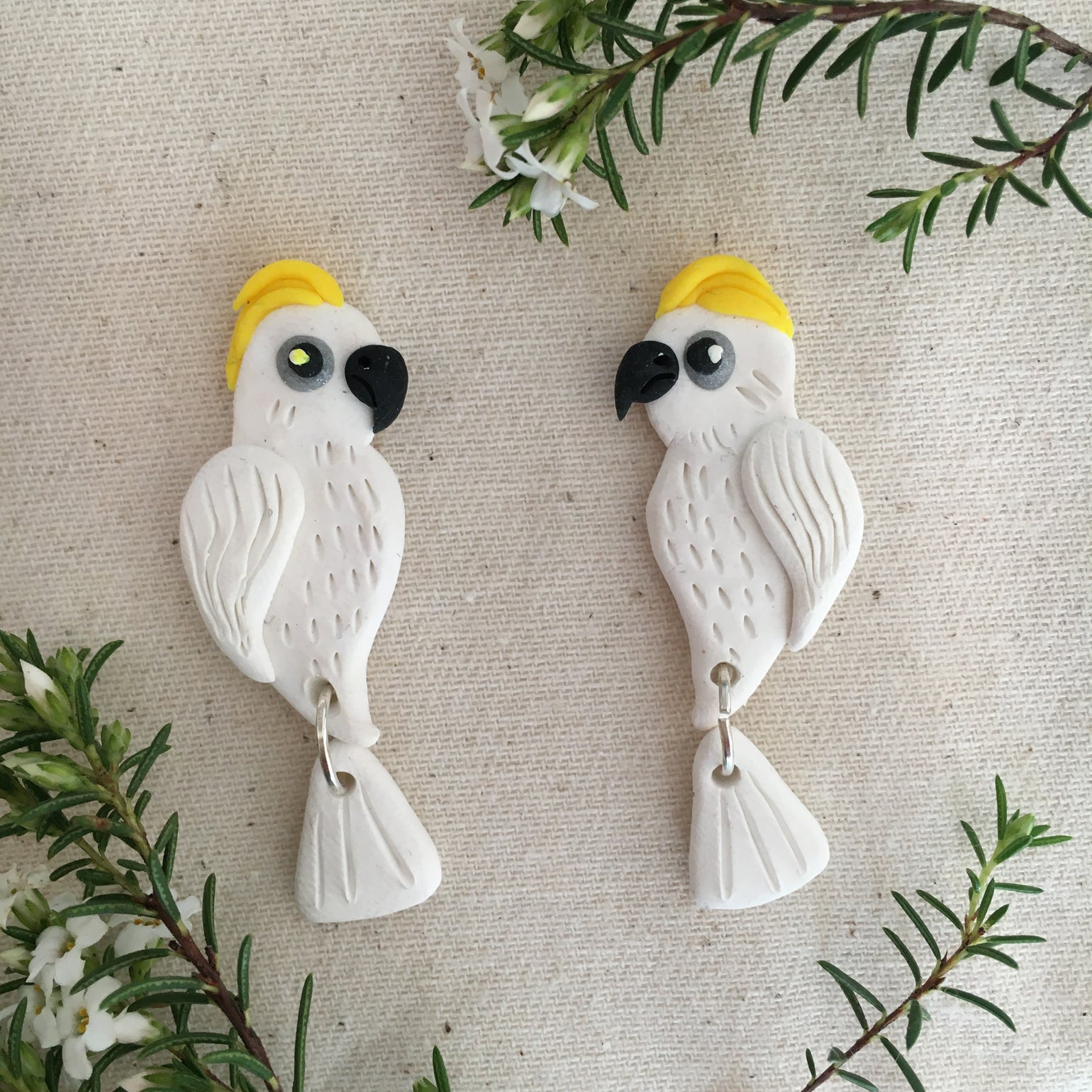 Image of Sulphur Crested Cockatoo Earrings
