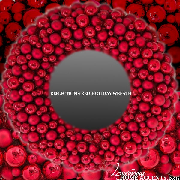 Image of Reflections Red Holiday Wreath