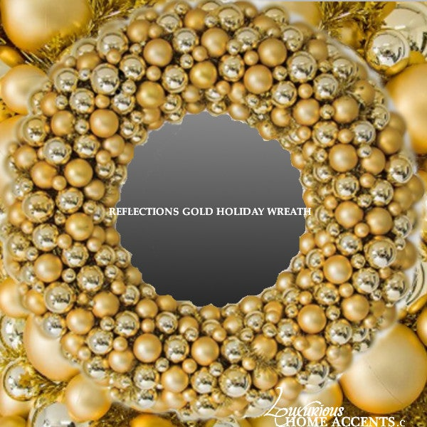Image of Reflections Gold Holiday Wreath